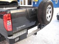Задний бампер Nissan Navara D40 с калиткой